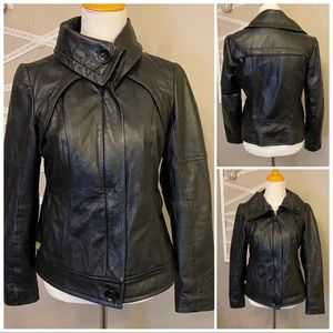 Soia and Kyo Leather Jacket Lg